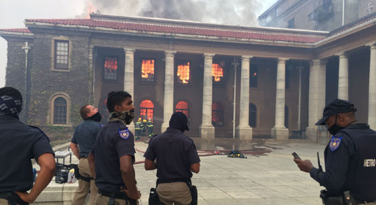 Fire wreaks destruction on UCT