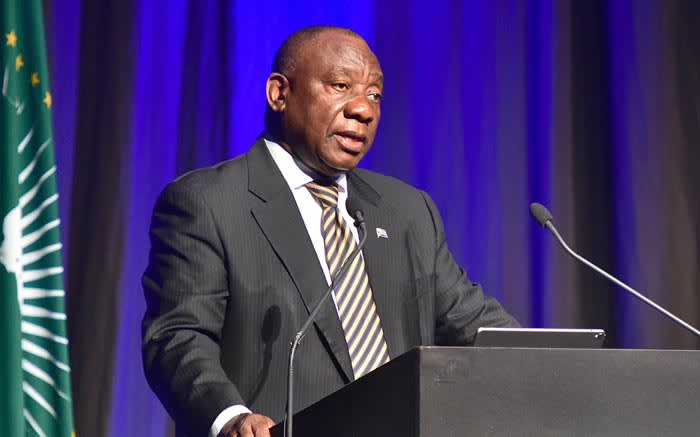 President Cyril Ramaphosa addresses 20th African Renaissance Conference at the Inkosi Albert Luthuli International Convention Centre, Durban, KwaZulu-Natal. Picture: GCIS.