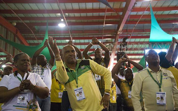 Delegates sing and dance during the nominations process at the ANC's national conference on 17 December 2017. Picture: Sethembiso Zulu/EWN