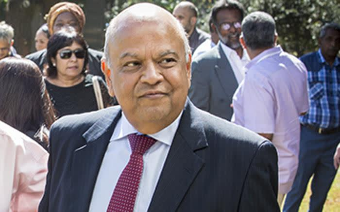 FILE: Pravin Gordhan at Ahmed Kathrada's funeral on 29 March 2017. Picture: Reinart Toerien/EWN.