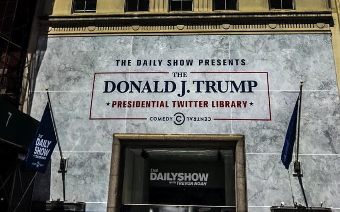 trevor noah opens donald trump u2019s presidential twitter library