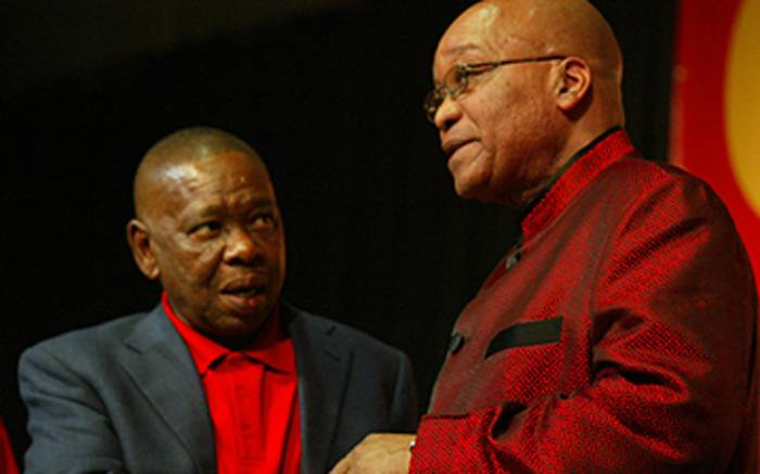 South African president Jacob Zuma and Blade Nzimande. Picture: EWN
