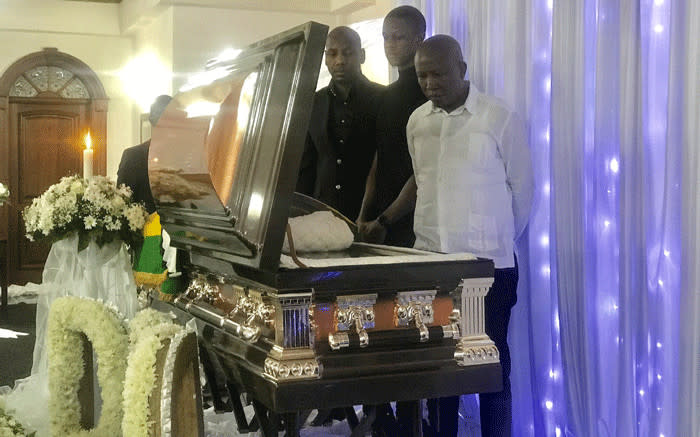 Malema visits the Mugabe family to pay his respects