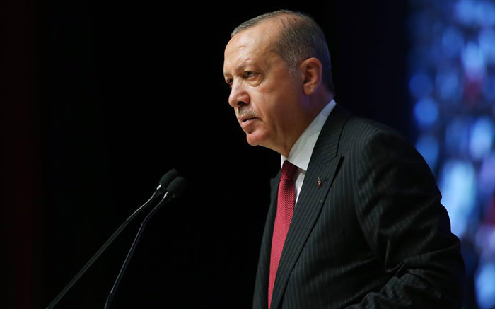 Erdogan vows to 'crush the heads' of Kurdish forces if no pullout