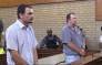 Willem Oosthuizen and Theo Jackson appear in the Middelburg magistrates court. Picture: Kgothatso Mogale/EWN