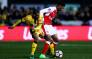 Players battle for the ball during the FA Cup fifth round between Arsenal and Sutton United. Picture: Twitter/@Arsenal.