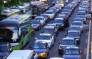 Screengrab of Beijing traffic gridlocked. Picture: CNN screengrab