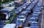 Screengrab of Beijing traffic gridlocked. Picture: CNN screengrab