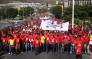 The Water Crisis Coalition and the South African Federation of Trade Unions (SAftu) joined forces as they marched to the Civic Centre and later Parliament to hand over their respective memoranda opposing the city of Cape Town's draft budget. Picture: Bertram Malgas