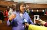 Mayor Patricia de Lille addresses the media after the Western Cape High Court on Tuesday granted her interim relief to return as Cape Town Mayor and DA member. Picture: Bertram Malgas/EWN
