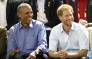 Former US President Barack Obama and Prince Harry on day 7 of the Invictus Games 2017 on 29 September 2017 in Toronto, Canada. Picture: AFP