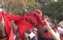 FILE: Anti-Zuma protesters tear a supporters T-shirt at the Cosatu Workers Day rally in Bloemfontein.Picture: Kgothatso Mogale/EWN.