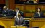 Finance Minister Malusi Gigaba delivering the Budget speech in Parliament on 21 February 2018. Picture: Twitter/@GovernmentZA