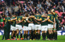 FILE: The Springboks huddle together before a match. Picture: AFP.