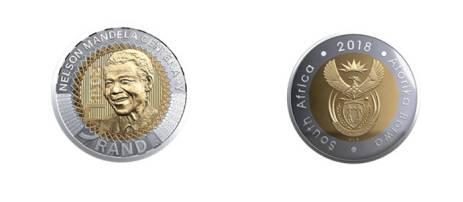 The Mandela commemorative R5 coin. Picture: SARB