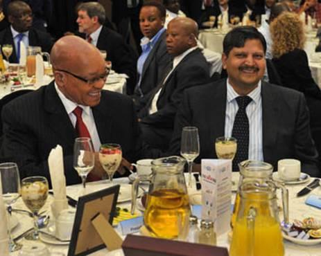 President Jacob Zuma and Atul Gupta. Picture: GCIS.