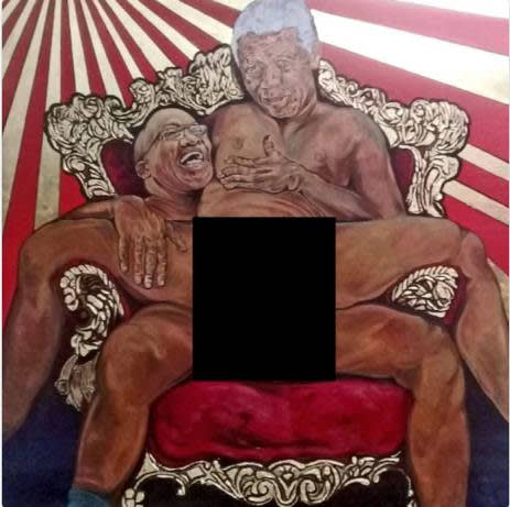 Outrage Sparked Over Painting Portraying Mandela And South African President Having Sex