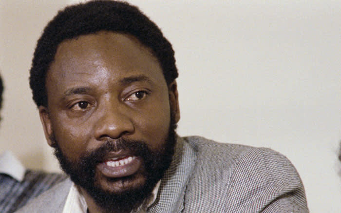 FILE: Cyril Ramaphosa, then secretary general of the National Union of Mineworkers, at a press conference in Johannesburg, on 30 August 1987. Picture: Walter Dhladhla/AFP
