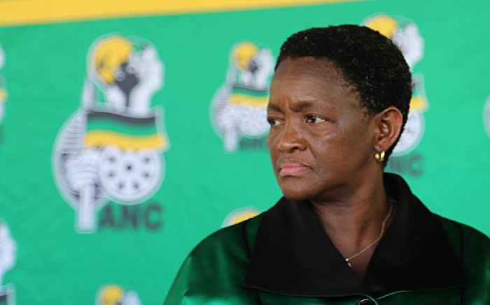 ANC Women's League President Bathabile Dlamini lead thousands of women to the Union Buildings in Pretoria on 30 October 2015 in defense of President Jacob Zuma. Picture: Reinart Toerien/EWN