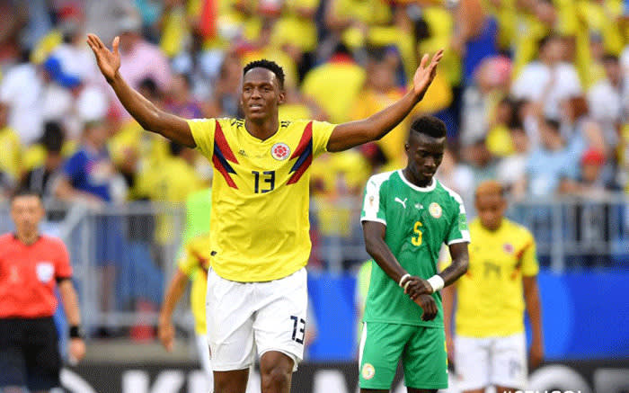 Senegal vs Colombia in the group stages of the 2018 Fifa World Cup. Picture: @FIFAWorldCup/Twitter.
