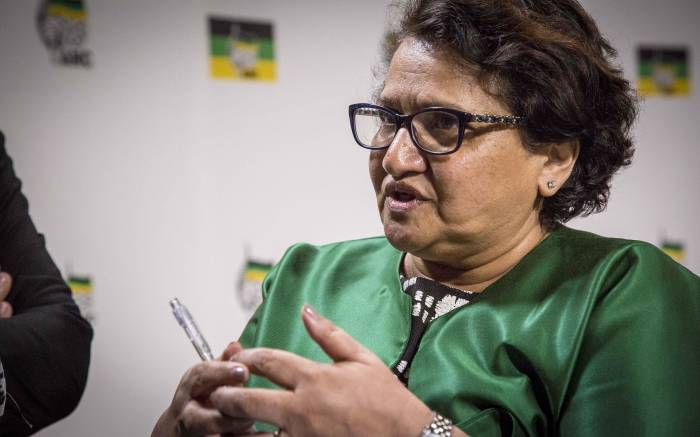ANC Dep Secretary General Jessie Duarte addresses members of the Press on issues relating to NEC discussions and President Zuma's resignation. Picture: Thomas Holder/EWN