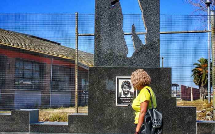 One of the memorials to the victims of the Langa Seven in Langa, Cape Town. Picture: Refilwe Pitjeng/EWN