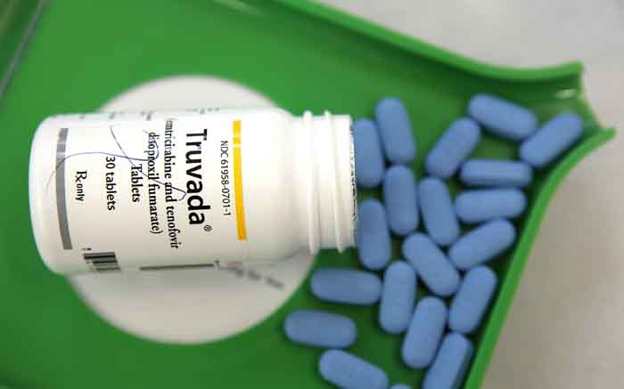 A bottle of antiretroviral drug Truvada. Picture: AFP.