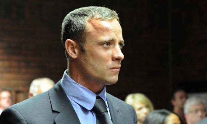 Oscar Pistorius at his bail hearing. Picture: AFP.