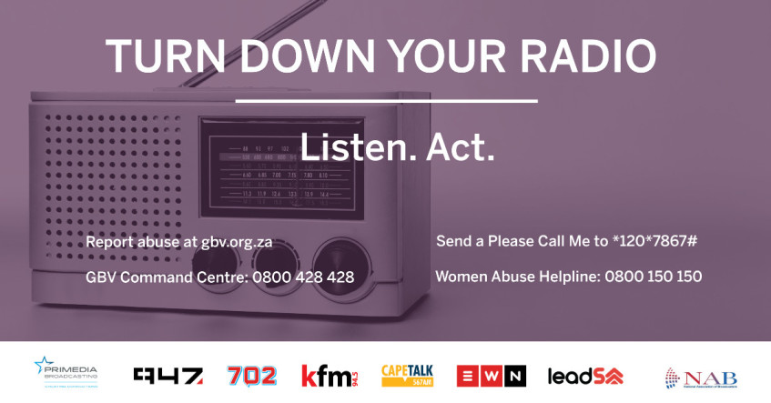 """Broadcasters unite against gender-based violence with """"turn down your radio"""""""