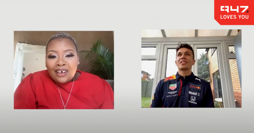 [WATCH] Anele chats to charismatic F1 Red Bull Racing driver, Alex Albon