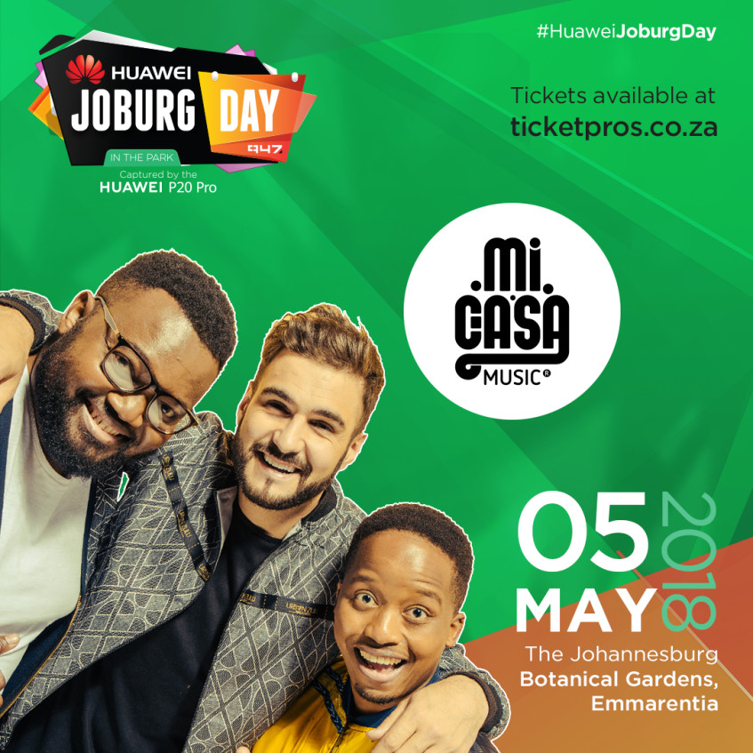 Mi Casa perform LIVE in studio ahead of Huawei Joburg Day in the Park