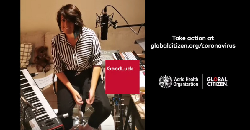 Powerful #TogetherAtHome performance by Goodluck for WHO & Global Citizen