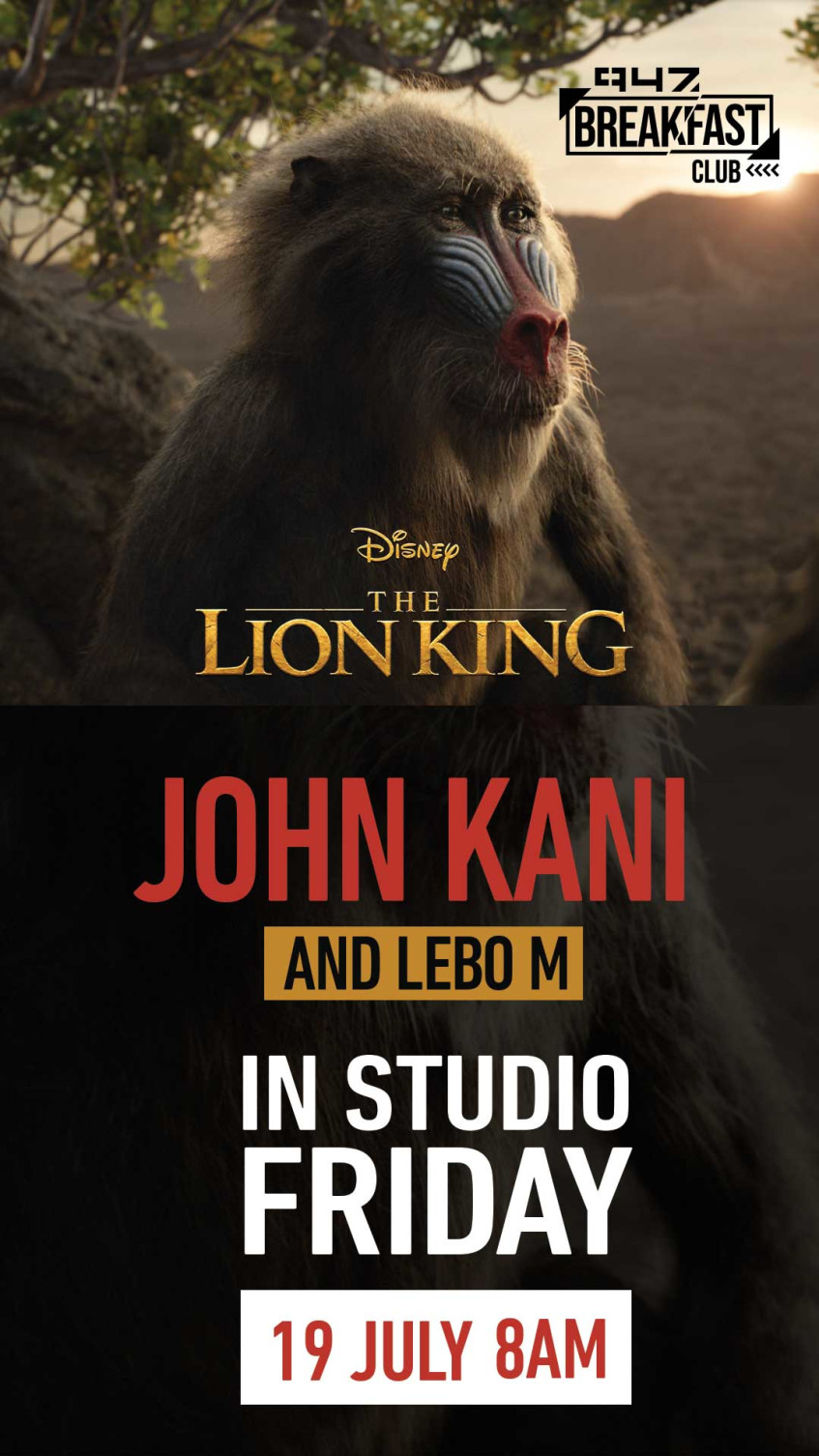 Legends John Kani and Lebo M chat the Lion King with the 947 Breakfast Club