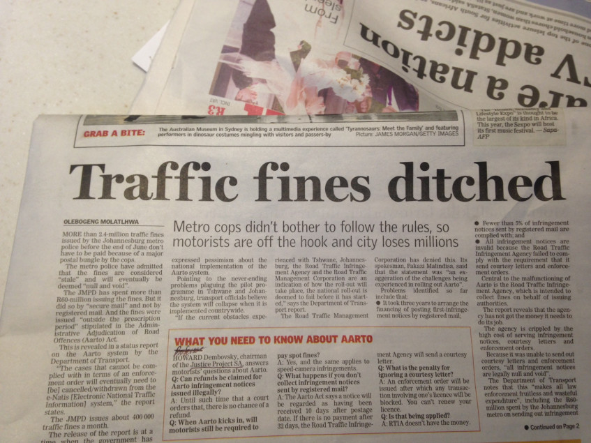 Traffic Fines ditched