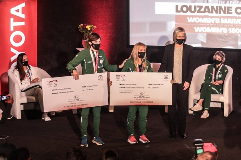 SA's Olympic & Paralympic medallists honoured by Toyota for Tokyo performances
