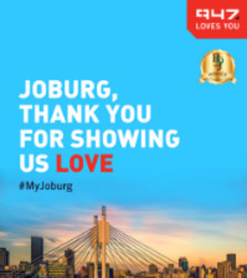 947 voted best local radio station in Joburg for 20 consecutive years