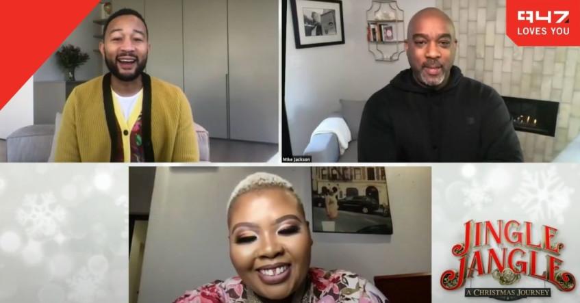 [WATCH] Anele chats to John Legend and Mike Jackson about Jingle Jangle