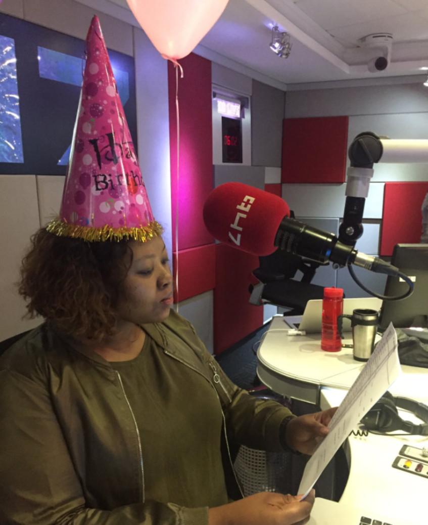 Trevor Noah sends Anele a birthday message!