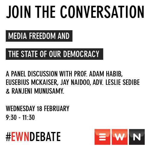 Debate: The State of our Democracy and media freedom
