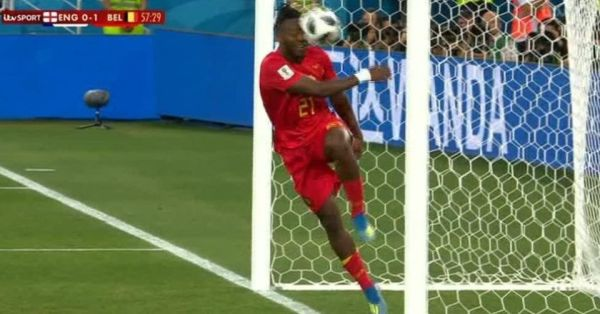 WATCH: Belgium soccer star Batshuayi hits himself in the face while