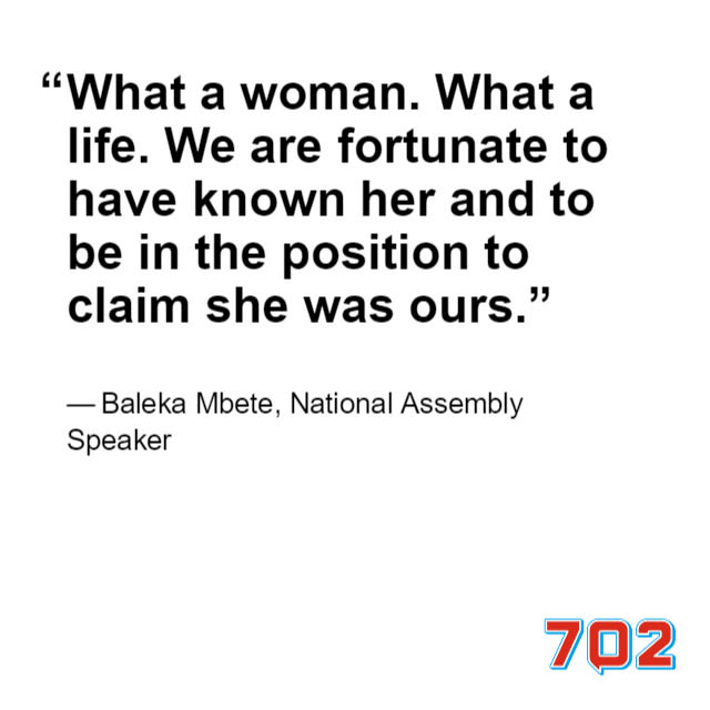 IN QUOTES: 'Biggest fighter' Winnie Madikizela-Mandela remembered