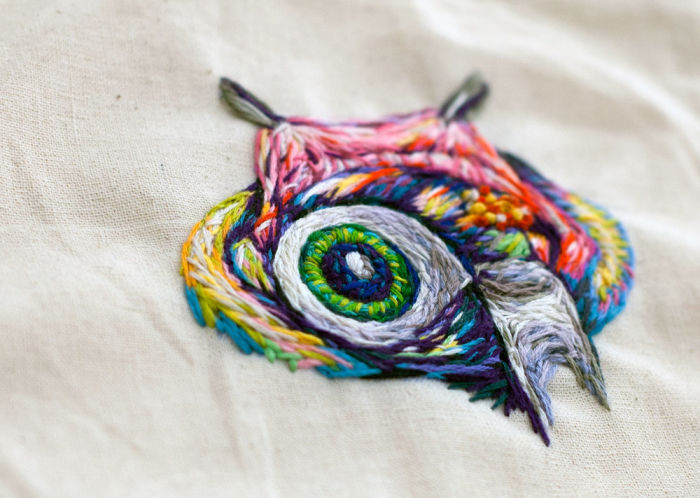 Cape Town artist creates bold artworks with embroidery