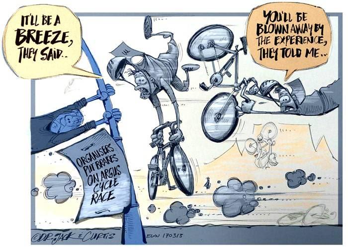 Cartoon  The Cape Argust Cycle Race 7e582299e