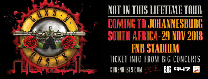 Yes Guns N Roses To Perform Live In South Africa For The First Time