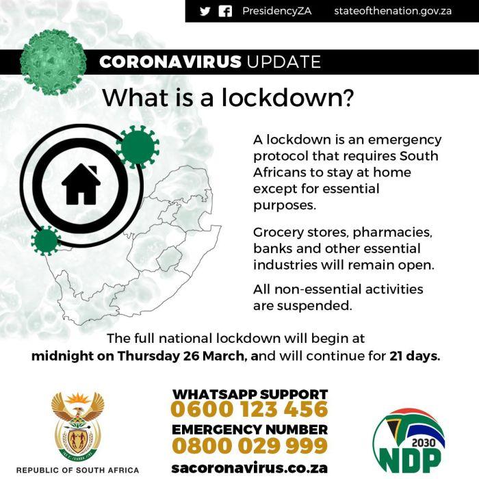 INFOGRAPHICS SA 21-day lockdown rules at a glance