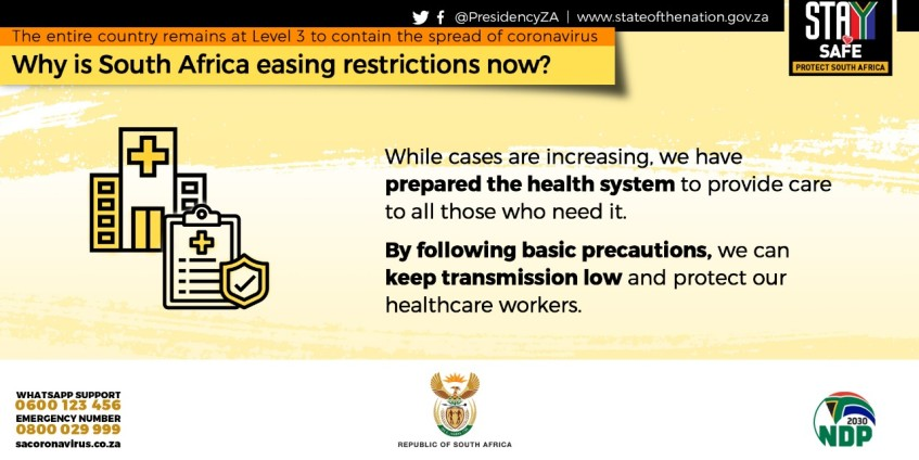 South Africa remains at lockdown level 3, additional ...