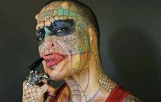 Transgender 'dragon lady' has ears removed and says testicles are next to go