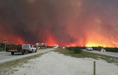 Strong winds fan fire near PE, N2 closed