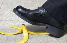 [WATCH] If you still believe you can't slip on a banana peel...you can!