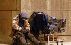CEOs fight homelessness by sleeping outside, in the cold, on a cardboard box